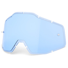 100% Anti-Fog F. Injected Lenses Racecraft/Accuri/Strata, blue